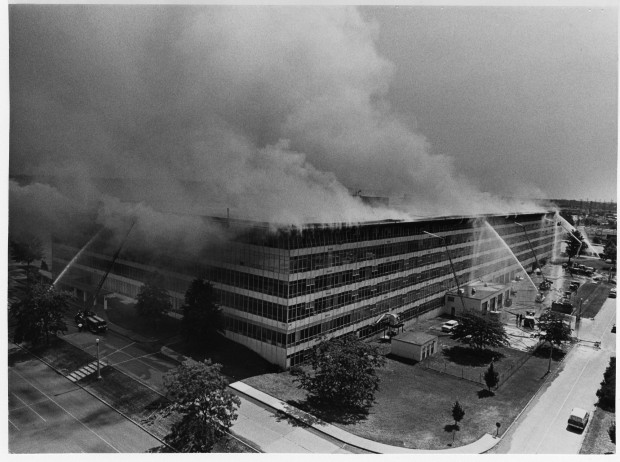 St. Louis National Records Center fire 1972